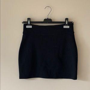 Silence and Noise Black Stretchy Mini Skirt